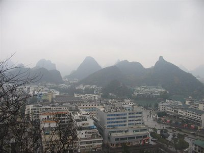 Guilin - City spread amongst the Limestone Karst peaks